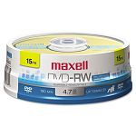 DVD-RW Discs 4.7GB 2x Spindle Gold Pack of 15 (MAX635117)