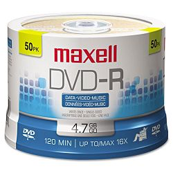DVD-R Discs 4.7GB 16x Spindle Gold Pack of 50 (MAX638011)