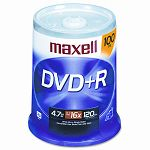 DVD+R Discs 4.7GB 16x Spindle Silver Pack of 100 (MAX639016)