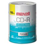 CD-R Discs 700MB80min 48x Spindle Silver Pack of 100 (MAX648200)
