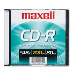 CD-R Disc 700MB80min 48x with Slim Jewel Case Silver (MAX648201)