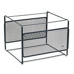 "Letter Size Mesh File Frame Holder Wire 12 38"" x 11 38"" x 9 58"" Black (ROL22191)"
