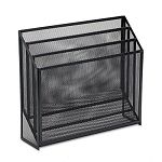 "Mesh Three-Tier Organizer 12 34"" x 3 12"" x 11 12"" Black (ROL22347ELD)"