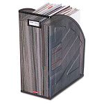 "Nestable Rolled Mesh Steel Jumbo Magazine File 5 78"" x 10 x 12 12"" Black (ROL62560)"