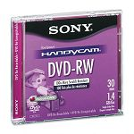 Mini (8cm) DVD-RW Disc 1.4GB 2x with Jewel Case Silver (SONDMW30R2H)