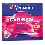 Type 4 Double-Sided DVD-RAM Cartridge 9.4GB 3x (VER95003)