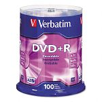 DVD+R Discs 4.7GB 16x Spindle Pack of 100 (VER95098)