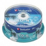 Hub IJ Printable CD-R Discs 700MB80min 52x Spindle White Pack of 100 (VER95252)