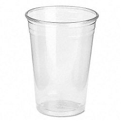 Clear Plastic PETE Cups Cold 10 oz. WiseSize Packs 500 cupsCarton (DXECP10DX)