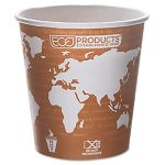 World Art Renewable Resource Compostable Hot Drink Cups 10 oz. Rust Pack of 50 (ECOEPBHC10WAPK)