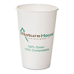 Compostable PaperPLA Cup 8 oz. Black Pack of 50 (SVAC008)