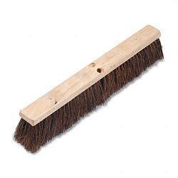 "Floor Brush Head 3 14"" Natural Palmyra Fiber 24"" (BWK20124)"