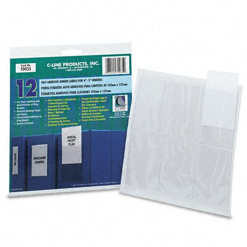 self adhesive ring binder label holders top load 2 14 x 3 clear