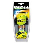 Value Charger 2 Pre-Charged Rechargeable AA NiMH Batteries (DURCEF14DX2)