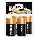 Coppertop Alkaline Batteries D Pack of 4 (DURMN1300R4Z)