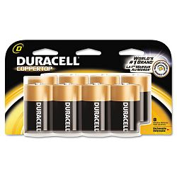 Coppertop Alkaline Batteries D Pack of 8 (DURMN13RT8Z)