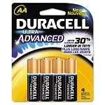 Ultra Advanced Alkaline Batteries AA Pack of 4 (DURMX1500B4Z)