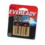 Gold Alkaline Batteries 9V 2 BatteriesPack (EVEA522BP2)