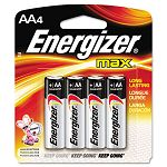 MAX Alkaline Batteries AA 4 BatteriesPack (EVEE91BP4)