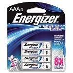 e² Lithium Batteries AAA Pack of 4 (EVEL92BP4)