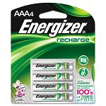 e² NiMH Rechargeable Batteries AAA 4 BatteriesPack (EVENH12BP4)