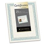 "Foil-Enhanced Certificates 8-12"" x 11"" Green Border Pack of 25 (SOUCT3R)"
