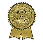 Gold Foil Certificate Seals Excellence Pack of 12 (SOUS1)