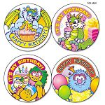 Wear 'Em Badges Critters Birthday Pack of 32 (TCR4909)