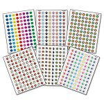 Mini Stickers Variety Pack Six Assorted DesignsColors Pack of 3168 (TCR9029)