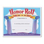 "Honor Roll Award Certificates 8-12"" x 11"" Pack of 30 (TEPT2959)"