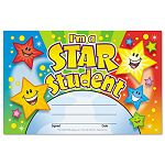 "Recognition Awards I'm a Star Student 8 12""w by 5 12""h Pack of 30 (TEPT81019)"