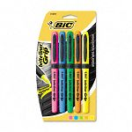 Brite Liner Grip Highlighter Chisel Tip Fluorescent Colors Set of 5 (BICGBLP51ASST)