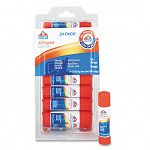 All-Purpose Permanent Glue Stick White Application .21 oz Pack of 24 (EPIE553)