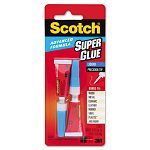 Scotch Single Use Super Glue 12 Gram Tube Liquid (MMMAD121)