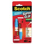 Scotch Single Use Super Glue 12 Gram Tube Liquid (MMMAD122)