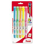247 Highlighter Chisel Tip BlueGreenOrangePinkYellow Ink Set of 5 (PENSL12BP5M)