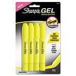 Gel Highlighter Bullet TipYellow Pack of 4 (SAN1780476)