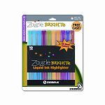 Zazzle Brights Hghlghtr Chisel Tip Assorted Colors Set of 10 (ZEB71111)
