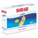 "Sheer Adhesive Bandages 34"" x 3"" Box of 100 (JOJ4634)"