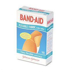 "Flexible Fabric Extra Large Adhesive Bandages 1-14"" x 4"" Box of 10 (JOJ5685)"