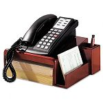 "Wood Tones Phone Center Desk Stand 12 18"" x 10"" Mahogany (ROL1734646)"