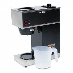 Pour-O-Matic Two-Burner Pour-Over Coffee Brewer Stainless Steel Black (BUNVPR)