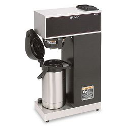 Airpot Coffee Brewer Brews 3.8 Gal.Stainless Steel with Black Accents (BUNVPRAPS)