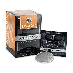 Coffee Pods Hazelnut Creme Single Cup Box of 14 (JAV70500)