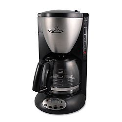 HomeOffice Euro Style Coffee Maker BlackStainless Steel (OGFCP12BP)