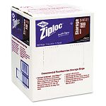 Double Zipper Bags Plastic 1 Quart Clear Write-On ID Panel Carton of 500 (DRA94601)