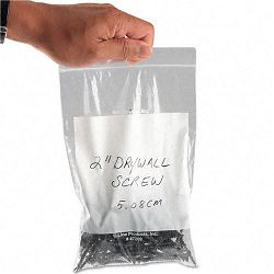Recloseable Small Parts Bags Poly 6 x 9 Clear with White ID panel Carton of 1000 (CLI47269)