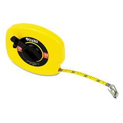 "English Rule Measuring Tape 38"" W x 100ft Steel Yellow (GNS100E)"