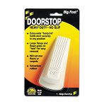 "Big Foot Doorstop No-Slip Rubber Wedge 2-14""w x 4-34""d x 1-14""h Beige (MAS00900)"