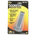 "Big Foot Doorstop No-Slip Rubber Wedge 2-14""w x 4-34""d x 1-14""h Gray (MAS00941)"